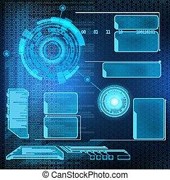 Futuristic interface HUD - Futuristic user menu interface...