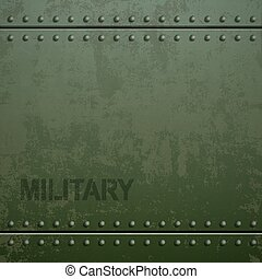 Old military armor texture with rivets. Metal background....