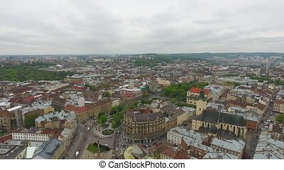 Aerial View of Lviv City