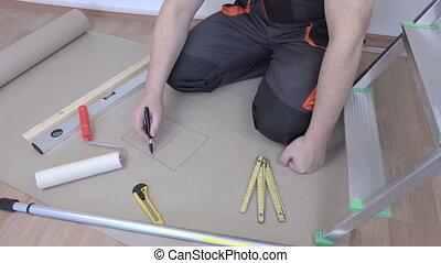 Man plans to apartment repair