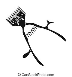 Mechanical hair clipper.Barbershop single icon in black style vector symbol stock illustration web.