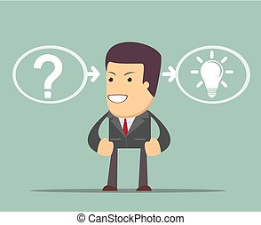 thinking or problem solving business concept. the process of...