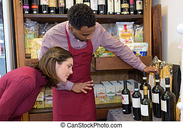 the wine specialty shop