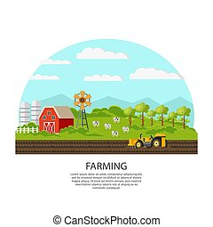 Agriculture And Farming Concept - Agriculture and farming...
