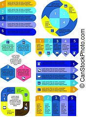Business Charts Infographic Set