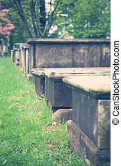 Above Ground Crypts in Old Cemetery - Very old stone crypts...