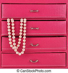 pérolas, jóia, caixa