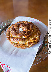 Challah Bread at Wedding Reception - Challah bread loaf...
