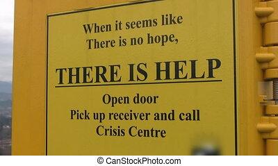 Crisis phonebox.