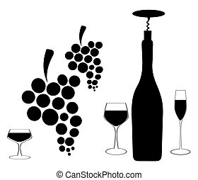 Design for wine vector - Spill the Wine.A bunch of grapes....