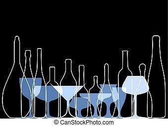 drink alcohol illustration - Wine background vector. Design...