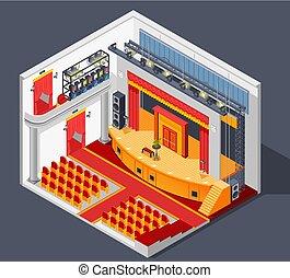 Theatre Interior Composition