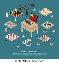 Board Games Online Composition - Colored board games online...