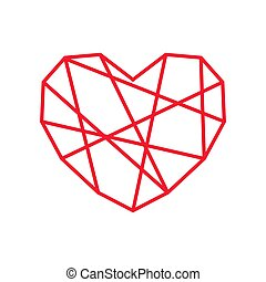 abstract line heart vector icon