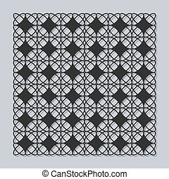 Decorative panel for laser cutting. Universal classic square...