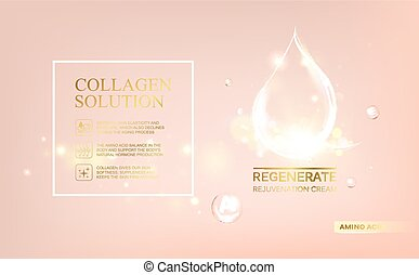 Shining essence droplet. - Regenerate face cream and Vitamin...