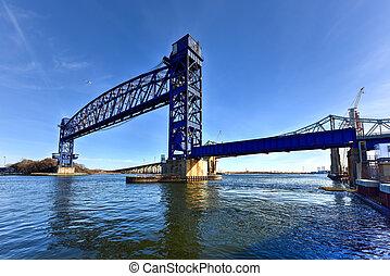 Goethals Bridge and Arthur Kill Vertical Lift Bridge. The...