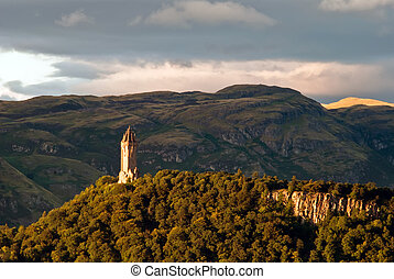 Wallace Monument - scotland wallace monument in the...