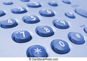 Telephone keypad - Macro of telephone keypad, business...