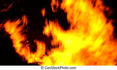 Great fire flame background texture
