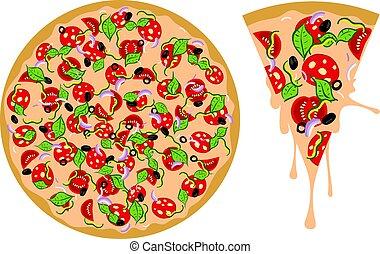 Cartoon Tasty Pizza