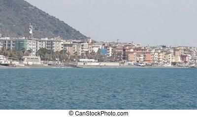 coastline in Salerno - south west coast of Salerno,...