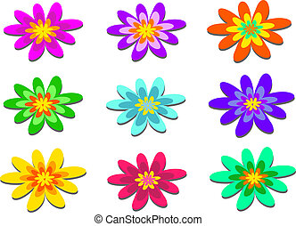 Mix of Pom Pom Flowers - Here is a colorful group of Flowers...
