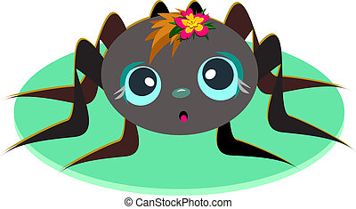 Cute Spider Baby - This cute Spider Baby has a colorful...