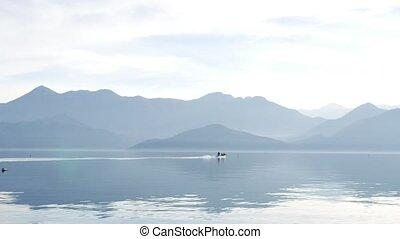 Skadar Lake in Montenegro. The largest freshwater lake in...
