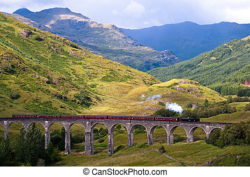 Glenfinnan Viaduct in Scotland Harry Potter