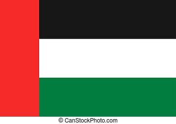 Flag of United Arab Emirates. - National flag of United Arab...