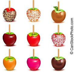 Toffee Candy Apples Assortment Set - Whole candy apples...