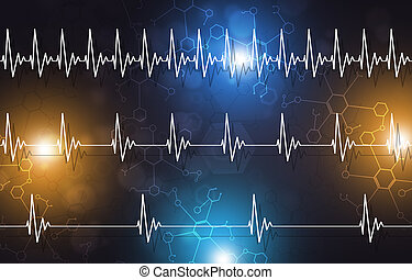 Medical Heartbeat Illustration - abstract medicine...