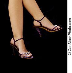 Stilettos - Purple stilettos, sexy legs