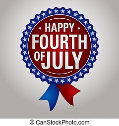 Happy Fourth of July Badge