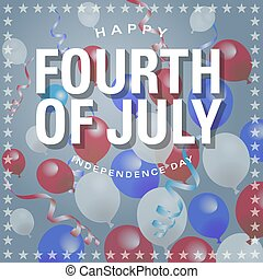 Happy Fourth of July Balloons Background