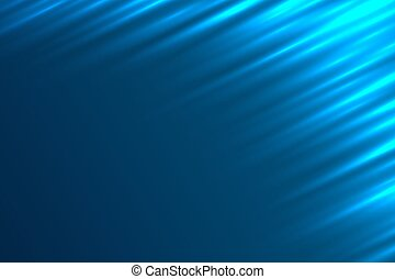 Abstract light rays blue vector background.