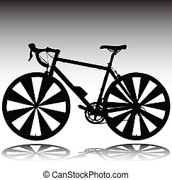 cycle for race vector silhouettes