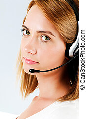 Young call center operator with the headset