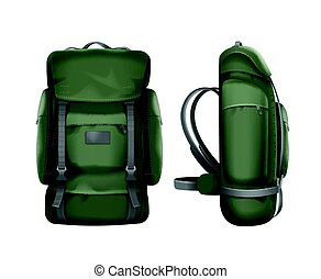 Big green travel backpack - Vector big green travel backpack...