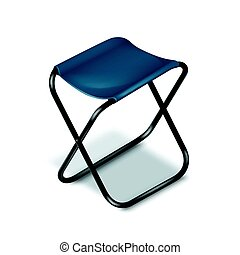 Picnic folding chair - Vector picnic folding chair with...