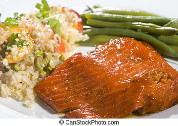 Gourmet Salmon Dinner - Delicious ocean caught salmon....