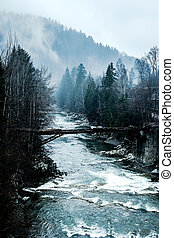 scenic landscape with river in mountains - scenic landscape...