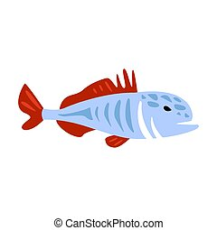 Red And Blue Jack Fish, Part Of Mediterranean Sea Marine...