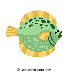 Flat Flounder Fish, Part Of Mediterranean Sea Marine Animals...