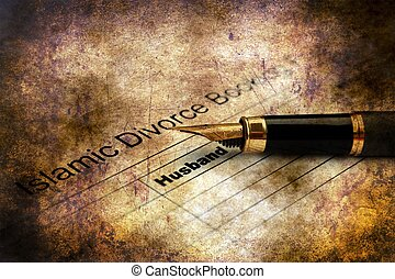 Islamic divorce form grunge concept