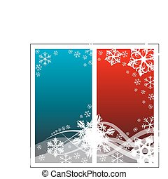 Christmas background with white snowflakes and place for...