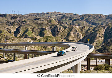 Freeway Overpass - A freeway overpass bridge in southern...