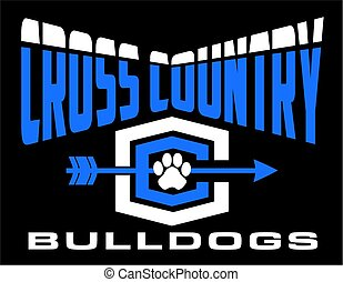bulldogs cross country team design for school, college or...