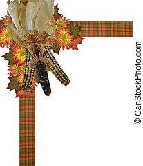 Thanksgiving border Indian corn - Image and Illustration...